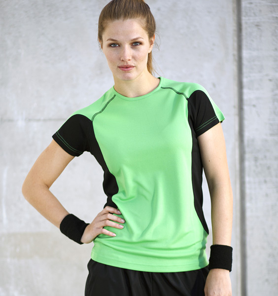 Løbe T shirt kontrast dame Bæk Tryk