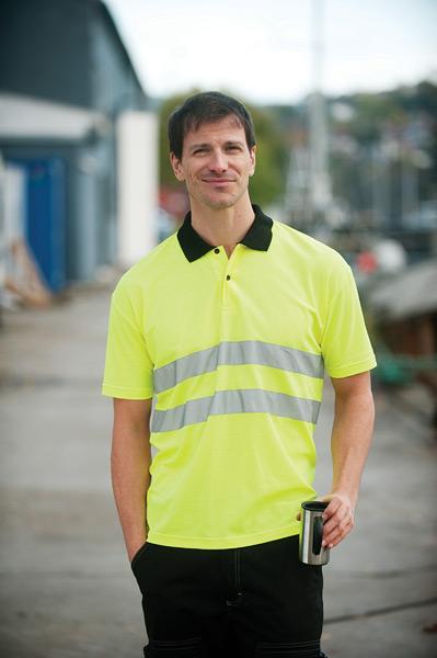Sikkerheds polo shirt - Bæk Tryk