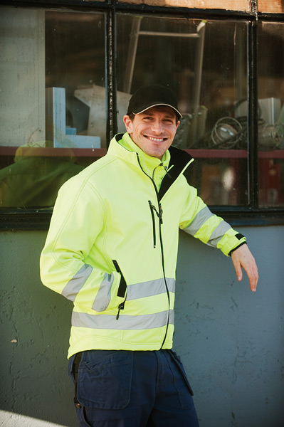 Sikkerheds softshell jakke - Bæk Tryk